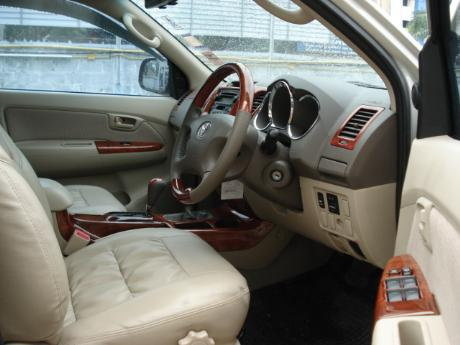 new Toyota Hilux Vigo Double Cab with leather seating and teak work at Thailand's top Toyota Hilux Vigo dealer Soni Motors Thailand
